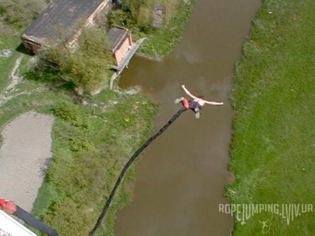 Товарищ Слыша Андрея прыгаєт bungee jumping