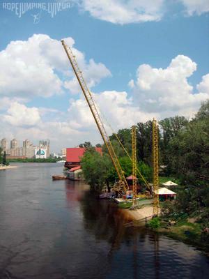 Банджі-джампінг в Києві в гідропарку